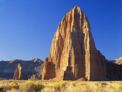 Formation of Plateau in Capitol Reef National Park, Lower Cathedral Valley, Colorado Plateau, Utah