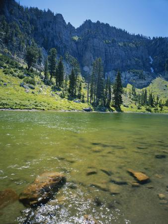 High Creek Lake and Bear River Range, Mount Naomi Wilderness, Wasatch-Cache National Forest, Utah,
