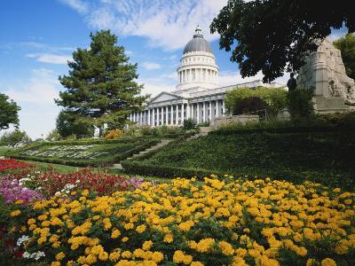 Utah State Capitol Building and Garden, Salt Lake City, Utah, USA