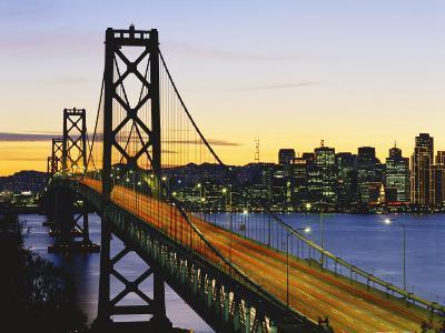 Oakland Bay Bridge at Dusk, San Francisco, California, USA