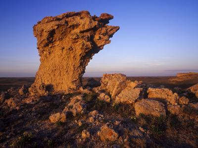 Rock Outcroppings in the Agate Fossil Beds National Monument, Nebraska, USA