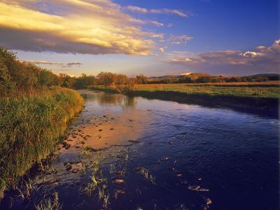 The Big Hole River at Last Light Near Jackson, Montana, USA