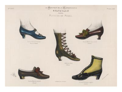 A Selection of Victorian Shoes and Boots for Men and Women