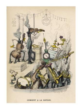A Steam Orchestra With, Drums, Cello, Violin, French Horn and Trombone