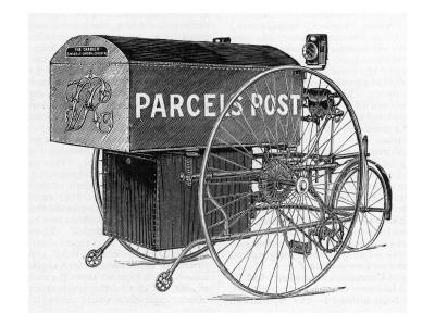 A Royal Mail Parcels Post Delivery Tricycle