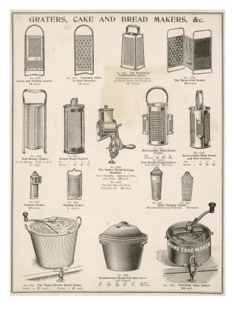 An Assortment of Graters,Cake and Breadmakers