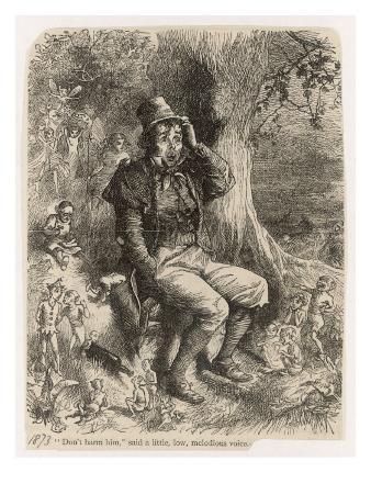 An Irish Peasant Among a Bevy of Leprechauns