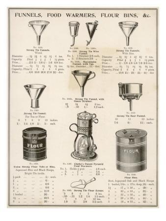 A Selection of Funnels, Food Warmers and Flour Bins