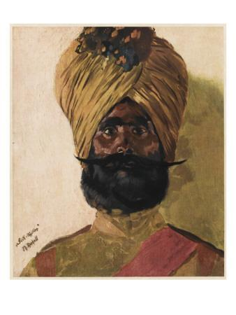 A Sikh Officer from India, Fighting with the Allies in World War One