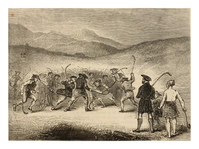 A Wild Game of Shinty in Scotland