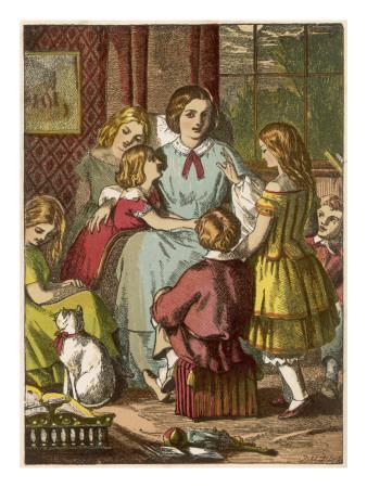 A Victorian Mother Surrounded by Her Many Adoring Children