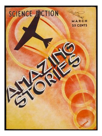 A Stylised Cover Showing an Aeroplane Flying Through Circles of Light
