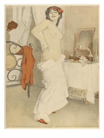 An Attractive Woman Undresses, and Admires Her Own Good Figure