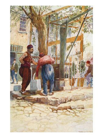 At the Fountain (Well) - Constantinople