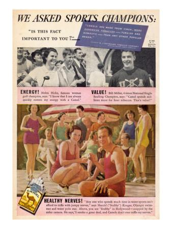 Camel Cigarettes - Good for Sports People's Health!