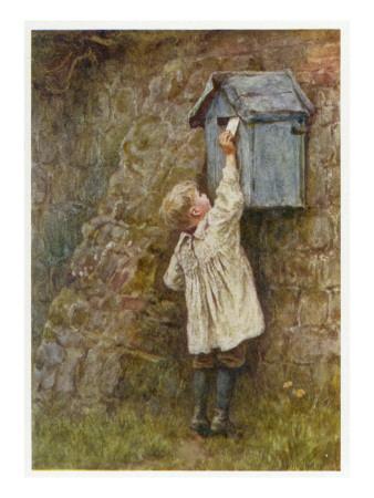 Boy Posting Letter 1887