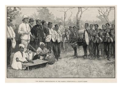 British Administrator Interviews a Native Chief in the Gambia