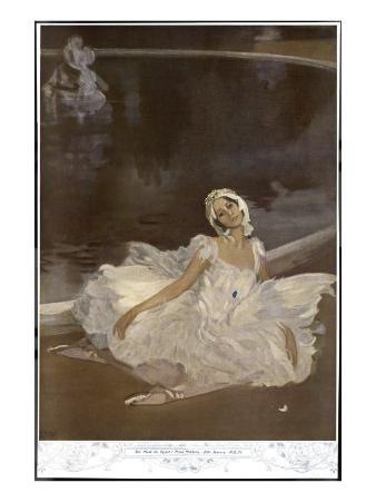 Anna Pavlova Russian Ballet Dancer During a Performance
