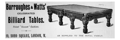 Billiard Table Adverts