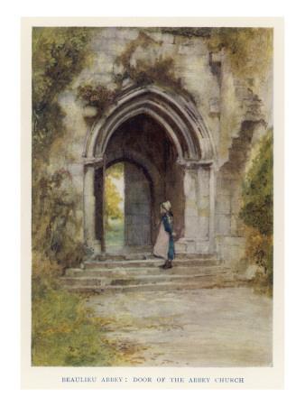 Beaulieu Abbey, Hampshire: Door of the Abbey Church