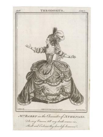 Ann Spranger Barry as Athenais in the Play 'Theodosius'