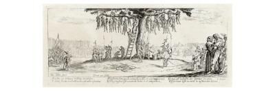 Callot Series the Hanging of Robbers and Brigands During the Thirty Years War