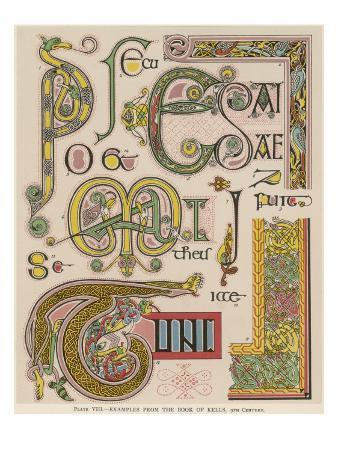 Book of Kells Illuminating Examples