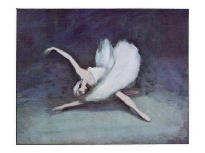 Anna Pavlova Russian Ballet Dancer as the Dying Swan in 1928