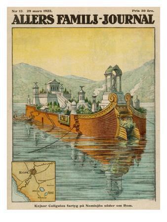 Caligula's Floating Palace on Lake Nemi, Near Rome
