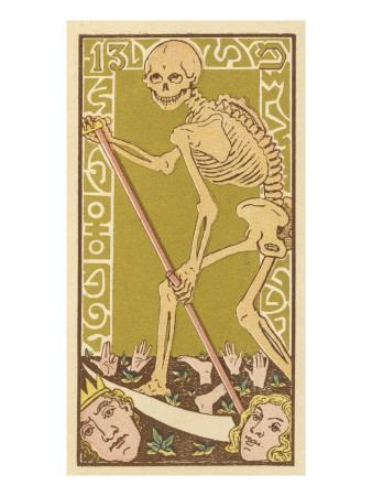 Death Personified on a Tarot Card