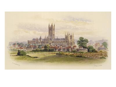 Canterbury Cathedral: Viewed from across the Fields