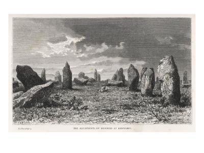 Carnac; the Alignment of Menhirs at Kermario