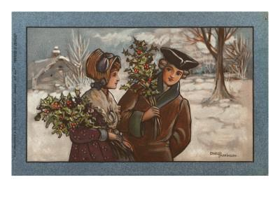 Couple in a Snowy Landscape