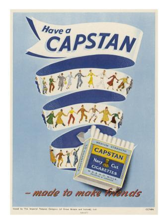 Capstan Navy Cut Cigarettes - Made to Make Friends
