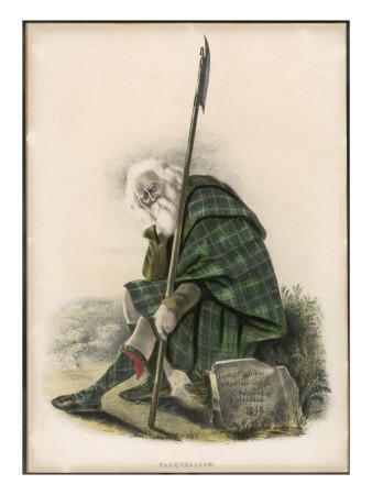 Clan Farquharson Holding a Pike