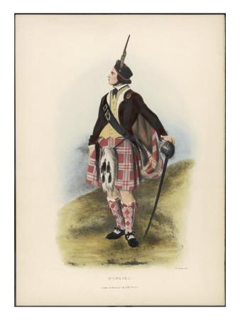 Clan Menzies Holding His Sabre