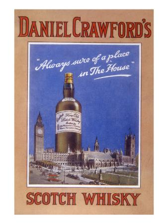 Daniel Crawford's Scotch Whisky - 'Always Sure of a Place in the House'