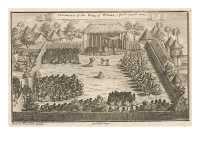 Coronation of the King of Whydah (Ouida), Dahomey (Benin), West Africa