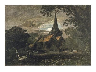 Churchyard by Moonlight