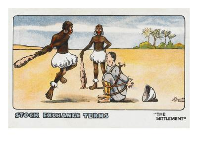 Cartoon on Stock Exchange 'settlement' Terms
