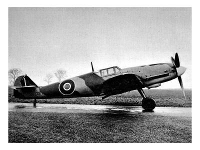 Captured Messerschmitt 109G, Britain; Second World War, 1944