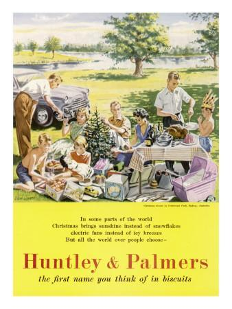 Christmas in Australia, Huntley and Palmers Biscuits