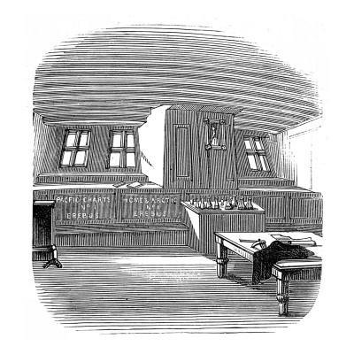 Captain Sir John Franklin's Cabin Aboard HMS 'Erebus'