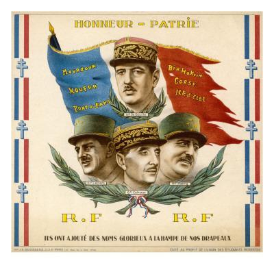 De Gaulle, Leclerc, Catroux and Koenig, Free French Military Commanders