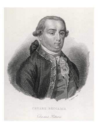 Cesare Bonesana, Marchese Di Beccaria Italian Economist and Jurist