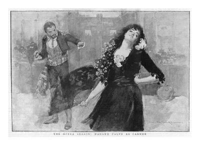 Emma Calve as Carmen at Covent Garden, London