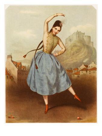 Fanny Elssler Austrian Ballet Dancer, Seen Here Dancing the Cracovienne in 'La Gypsy'