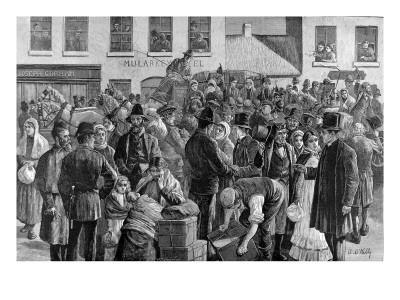 Departure of Irish Emigrants at Clifden, County Galway, 1883