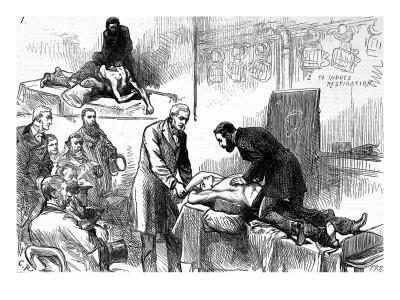 Dr. Howard Demonstrating Resuscitation, Royal Humane Society