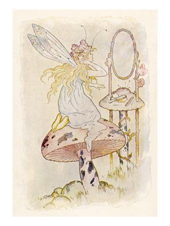 Fairy Looking in Mirror
